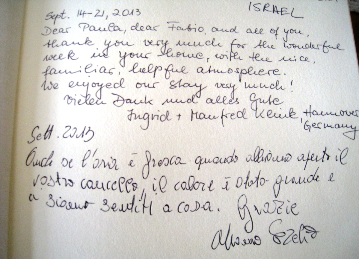 Guests who recommend their holiday in Apulia - Agriturismo Salinola Ostuni 25